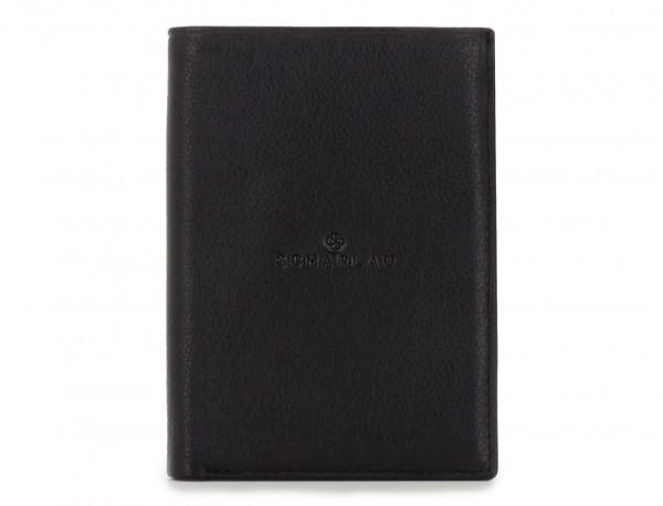 black leather wallet for men front
