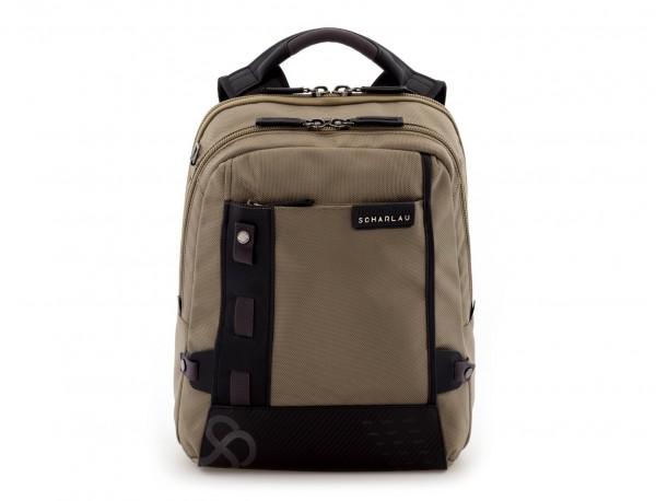 mochila para ordenador beige frontal