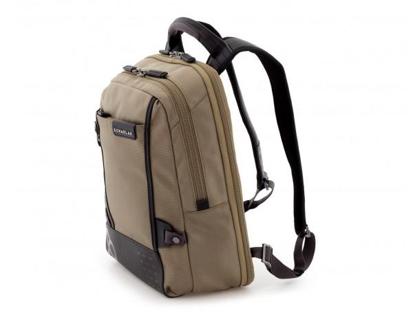 mochila para ordenador beige lado
