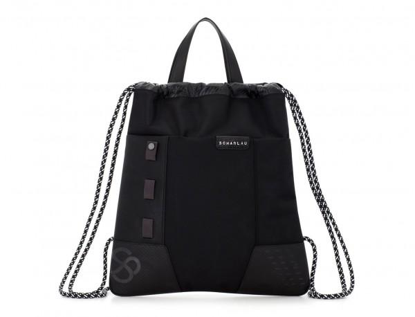 nylon backpack black front