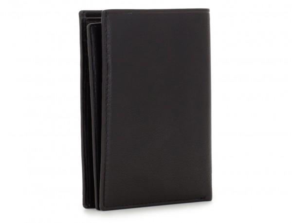 black leather wallet for men side