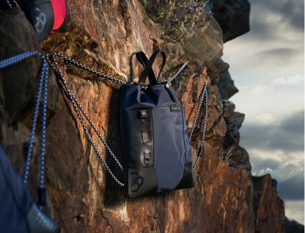 nylon backpack black model