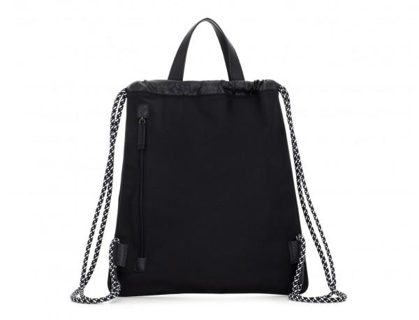 nylon backpack black back