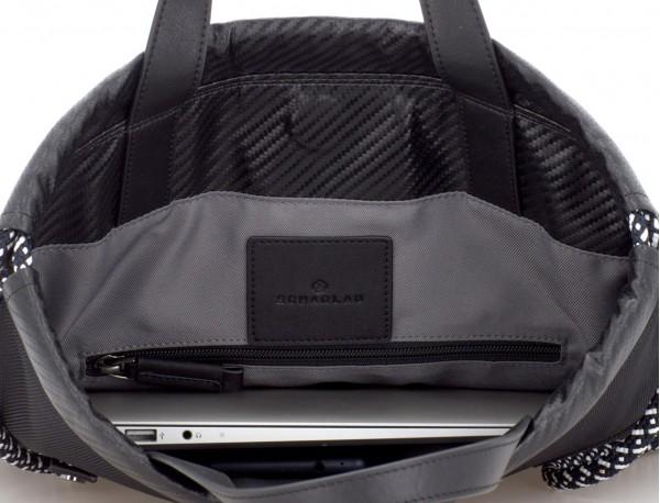 nylon backpack black open