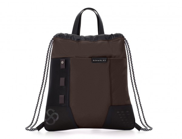 nylon backpack brown front