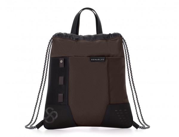 mochila marrón frontal