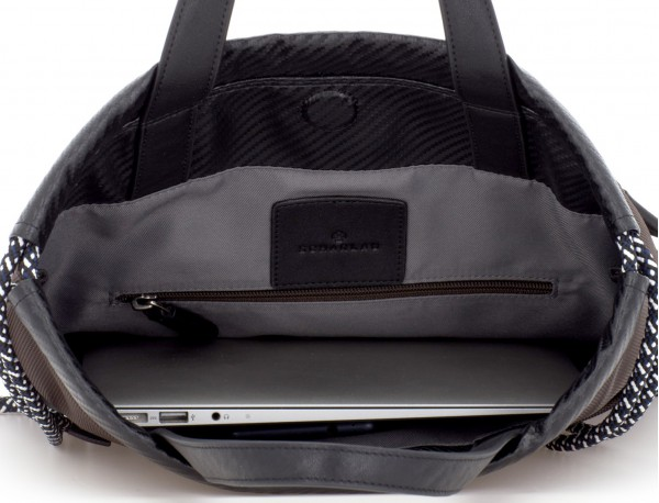 nylon zaino marrone laptop