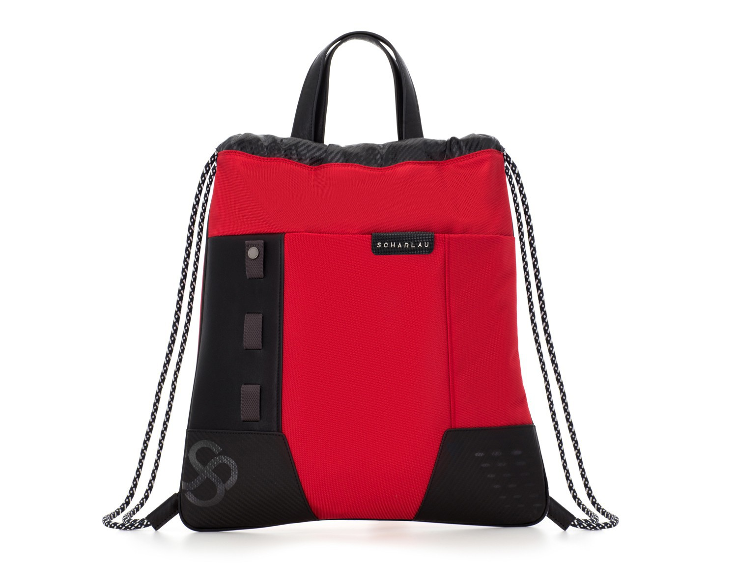 nylon backpack red front