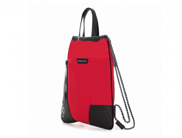 mochila roja lado