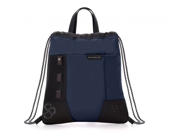 nylon backpack blue front