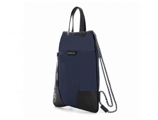 mochila azul lateral