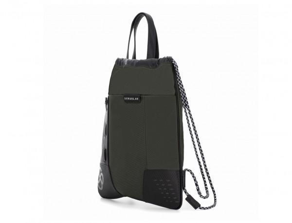 nylon backpack green side
