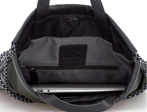 mochila verde laptop