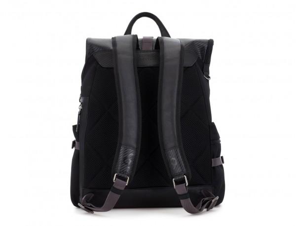 mochila con solapa negra  back