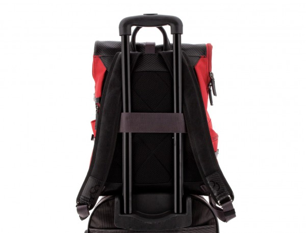 nylon backpack red trolley