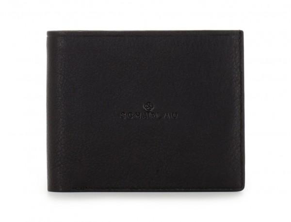 leather men wallet black front