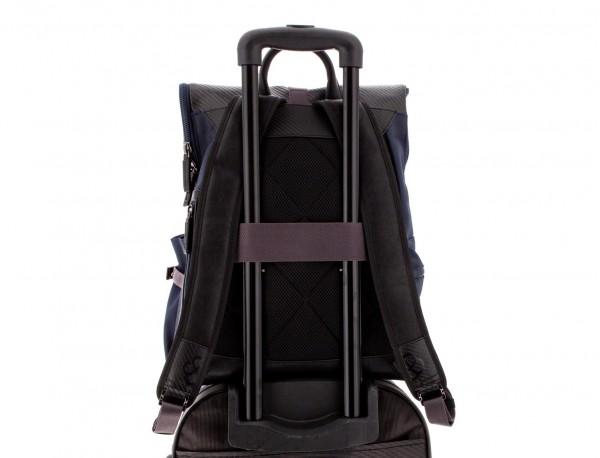 mochila con solapa azul trolley