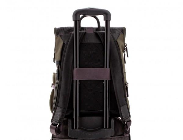 nylon backpack green trolley