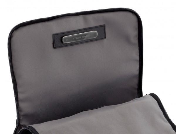 mochila con solapa beige plate