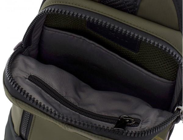 Mono slim bag in green open