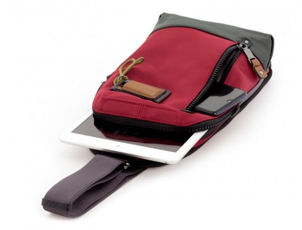 bandolera de poliéster en rojo tablet