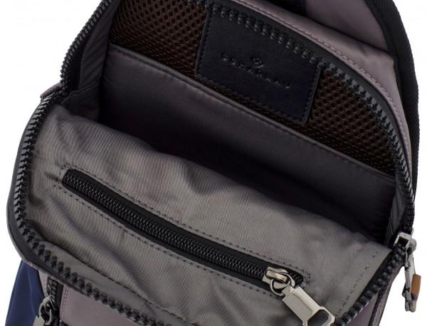 Mono slim bag in gray open