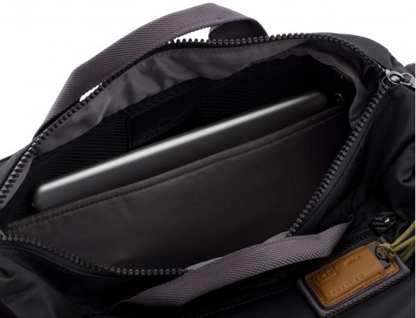 Messenger bag in black for laptop