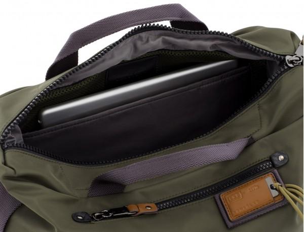 Messenger bag in green laptop