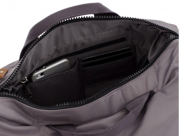Messenger bag in gray inside