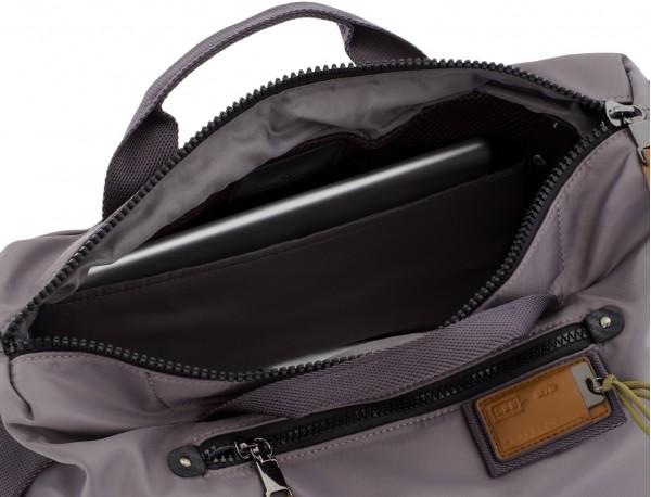 Borsa messenger in grigio laptop