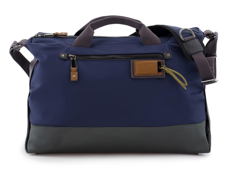 Messenger bag in blue front
