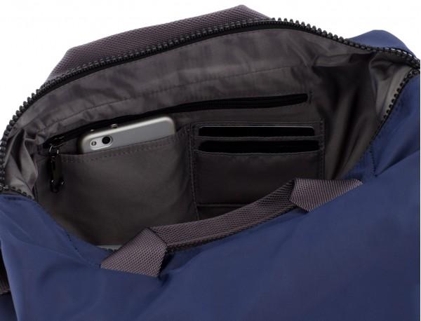 Messenger bag in blue pockets