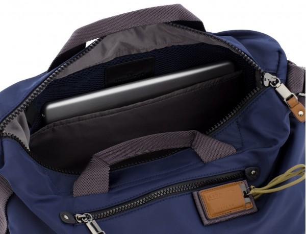 Borsa messenger in blu laptop