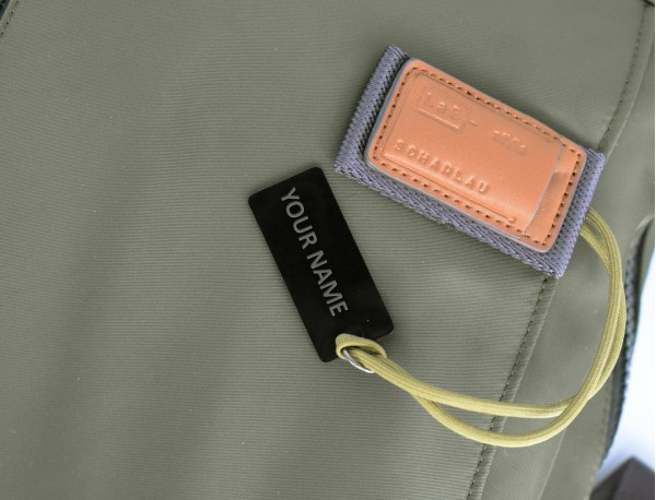 Borsa messenger in nero e grigio personalized