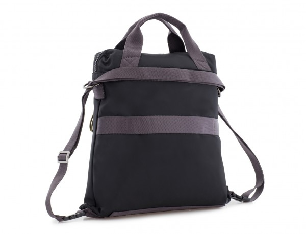 Bag convertible into backpack in black side