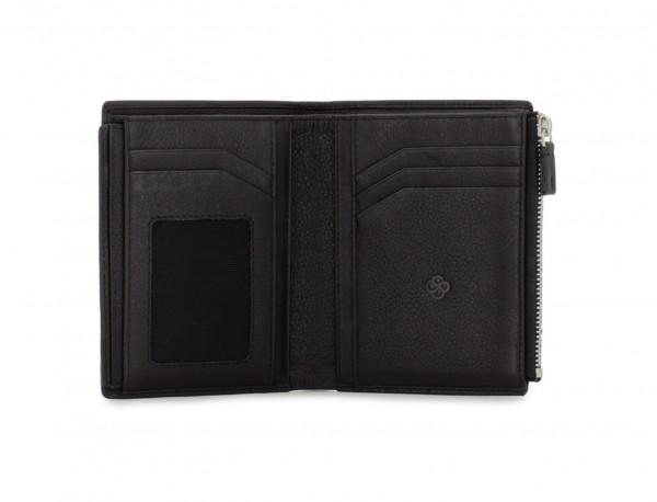 portafoglio in pelle nero detail