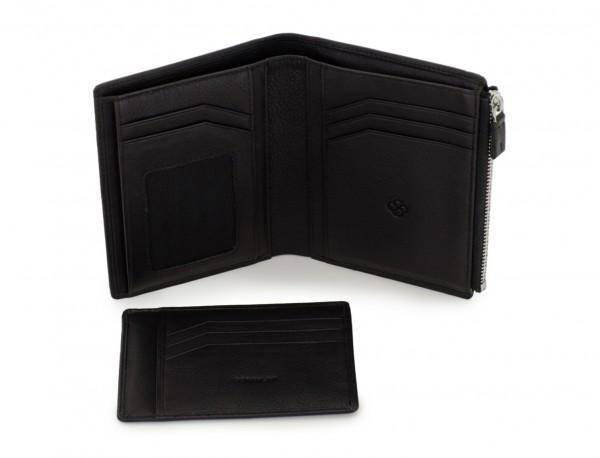 leather wallet in black open