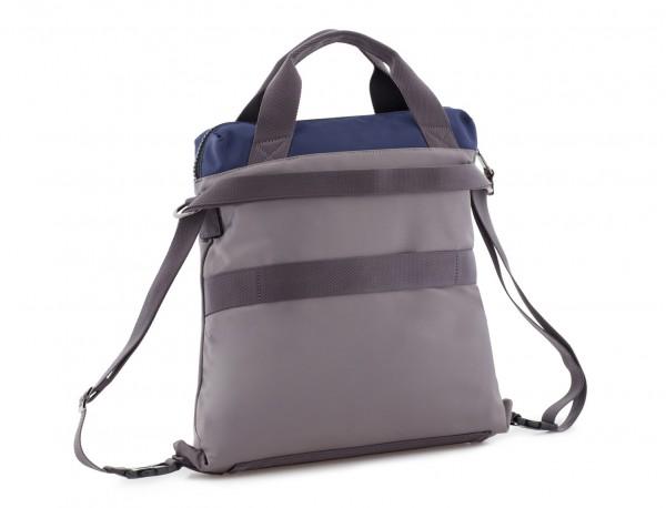 Bolso tote versátil convertible en mochila en gris lado