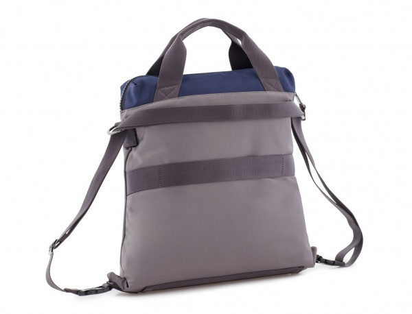 Bag convertible into backpack in gray  side