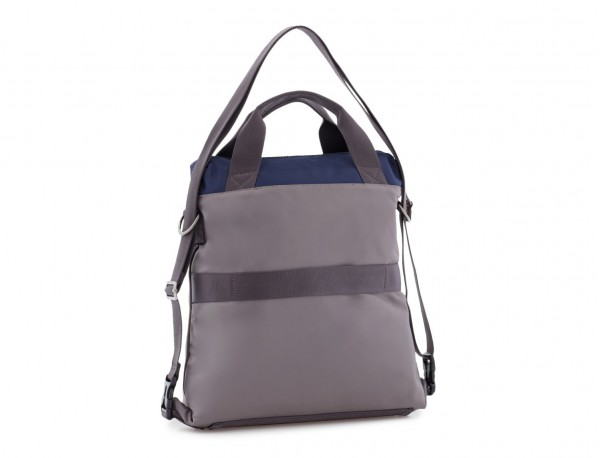 Bag convertible into backpack in gray  back