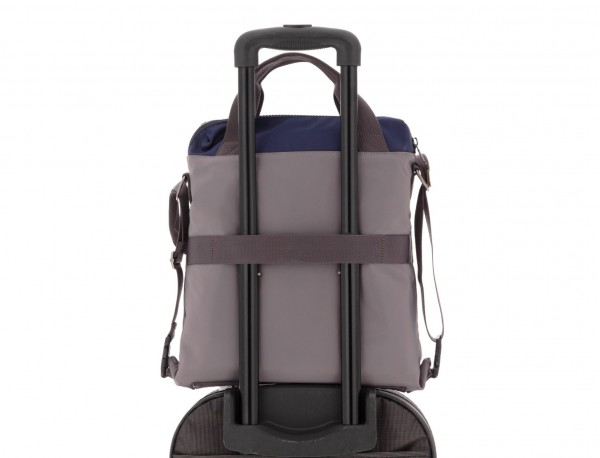 Bag convertible into backpack in gray trolley