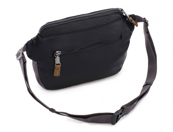 Polyester waist bag in black back