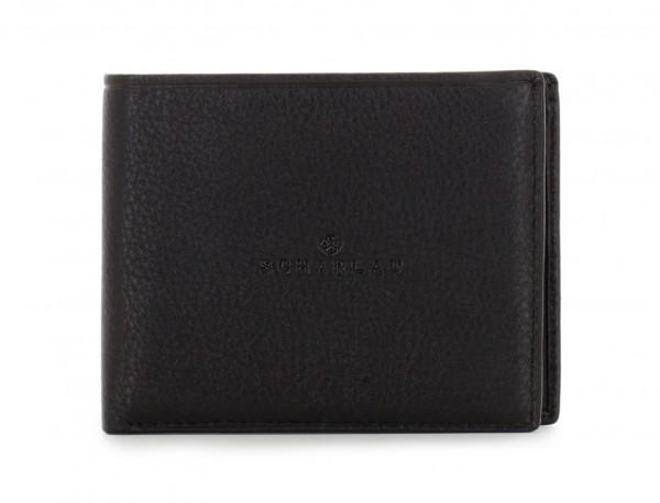 mini portafoglio in pelle nero front