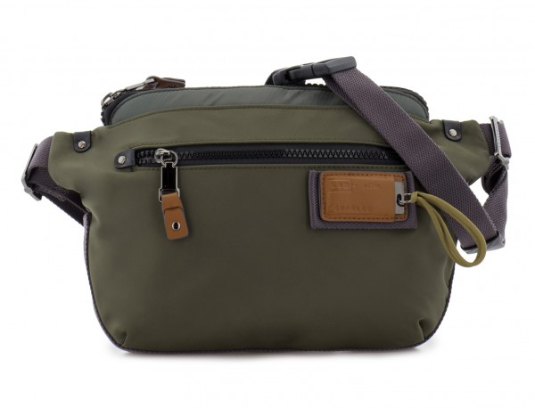Polyester waist bag in green front