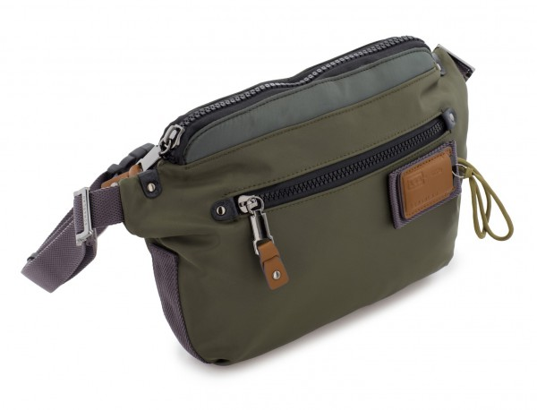 Polyester waist bag in green side