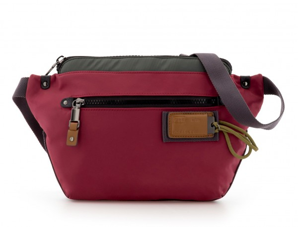 Polyester waist bag in red front