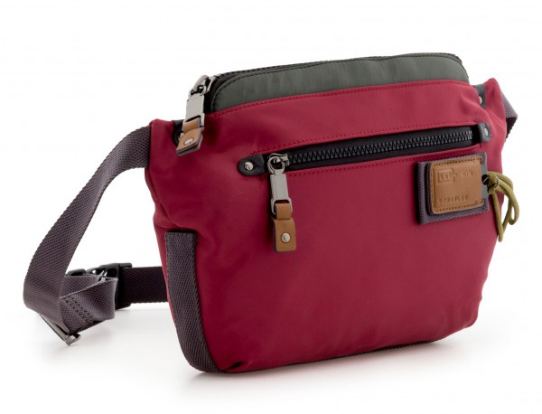 Polyester waist bag in red side