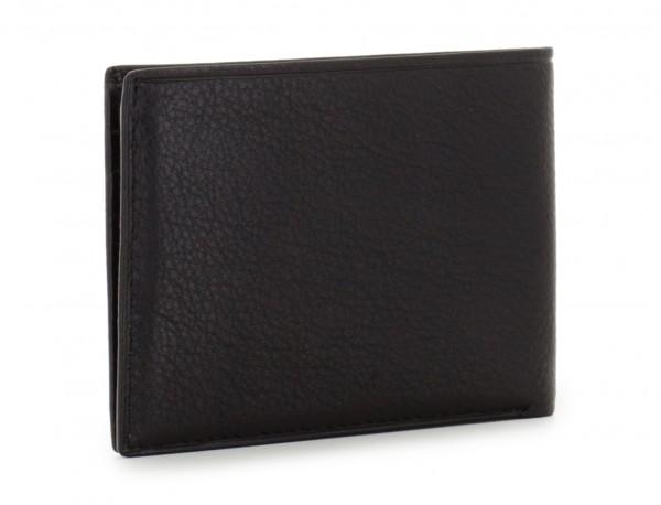 leather mini wallet in black side