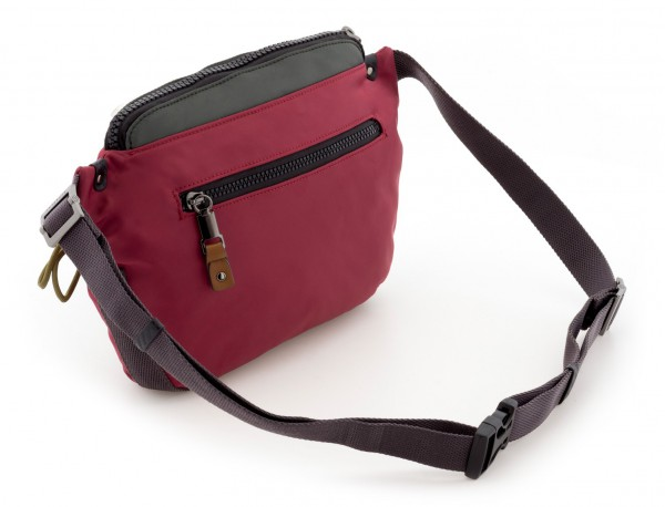 Polyester waist bag in red back