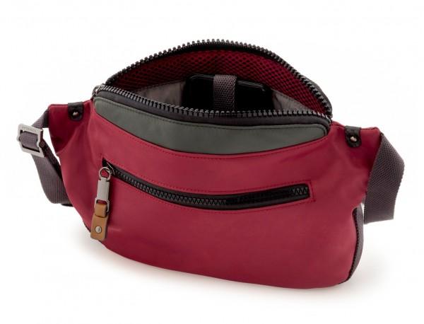Polyester waist bag in red inside
